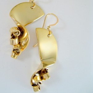 Handcrafted Vermeil Champagne Earrings